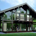 Проект загородного дома в стиле фахверк