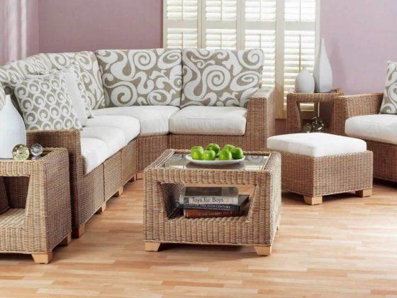 Плетеная мебель в интерьере 8