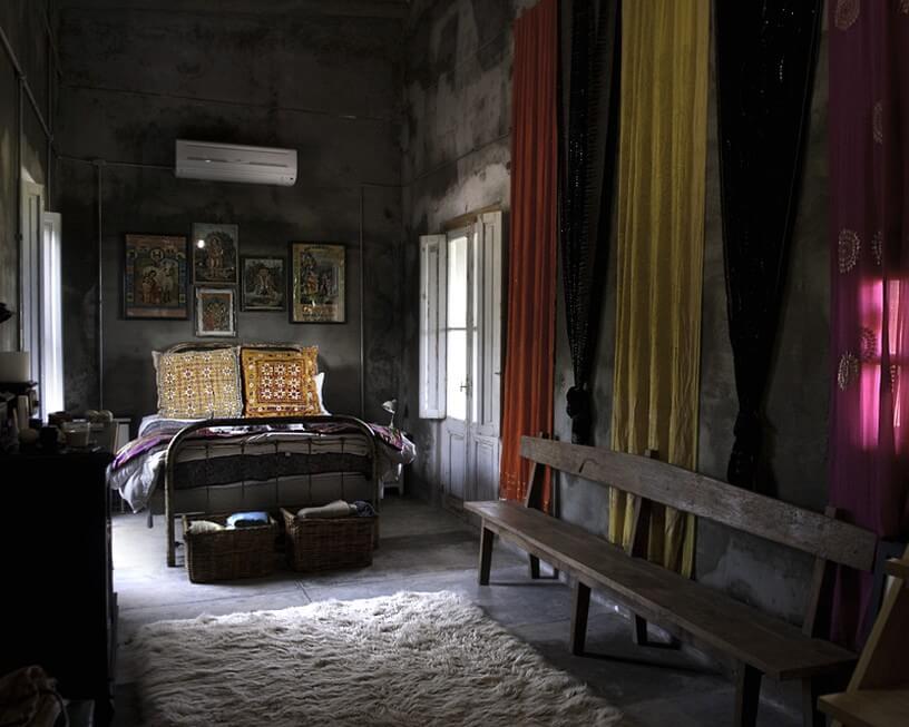 Стиль Гранж в интерьере - текстиль