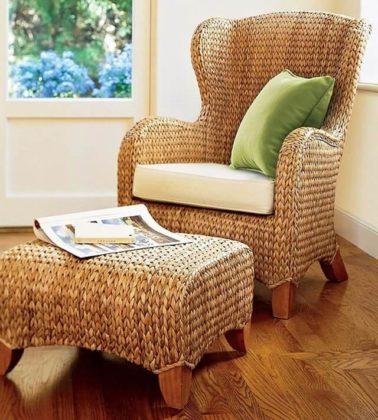 Плетеная мебель в интерьере 9