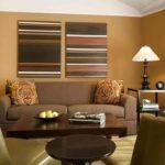 Дизайн гостиной комнаты в коричневом цвете