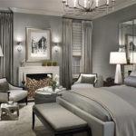 Спальная комната в сером цвете - фото
