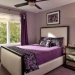 Фиолетовый цвет в интерьере спальной комнаты
