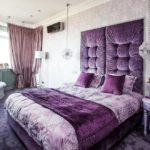 Интерьер спальной в фиолетовом цвете