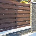 Забор из арбоформа