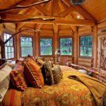 Оформление спальни в стиле рустик - фото