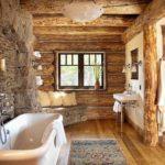 Дизайн ванной комнаты в рустикальном стиле