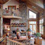 Рустикальный стиль в интерьере частного дома