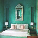 Оригинальный зеленый оттенок в оформлении интерьера спальной