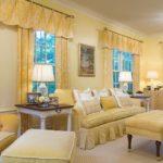 Оформление гостиной комнаты в желтом цвете