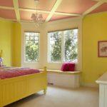 Желтый и красный цвета в интерьере