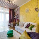 Стильный интерьер в желтом цвете
