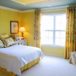 Дизайн спальной комнаты в желтом цвете