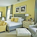 Желтый цвет в интерьере спальной комнаты