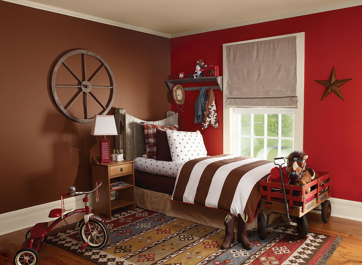 Красный и коричневый - сочетание