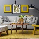 Желтые акценты в гостиной