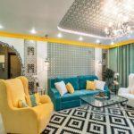 Желтые акценты в гостиной - фото