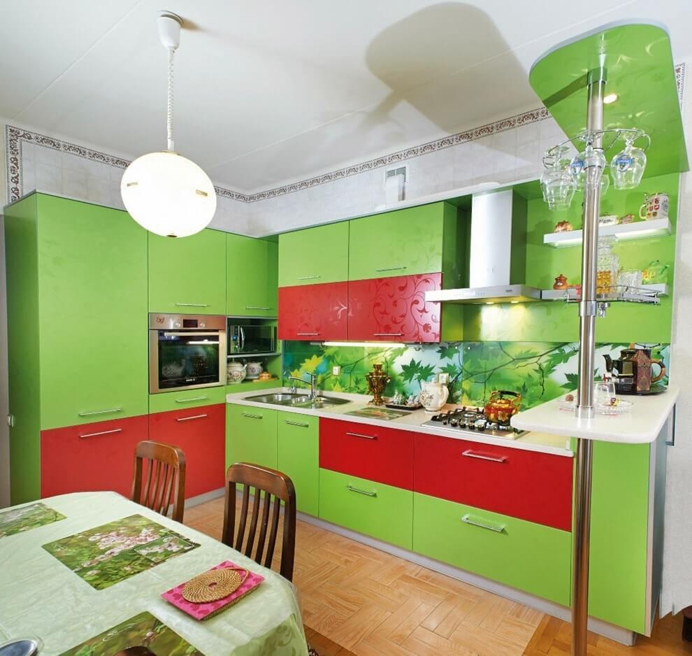 Сочетание красного и зеленого цветов