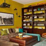 Интерьер кабинета в желтом цвете