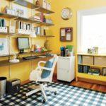 Желтый цвет в интерьере домашнего кабинета