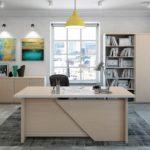 Белый цвет в интерьере кабинета