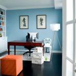 Голубой цвет в интерьере кабинета