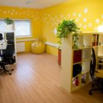 Оформление кабинета в желтых тонах