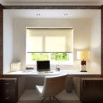 Домашний кабинет в коричневых тонах