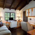 Оранжевый в интерьере домашнего кабинета