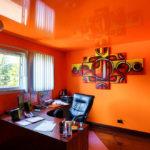 Оранжевый цвет в интерьере рабочего кабинета