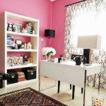 Розовый цвет в интерьере рабочего кабинета