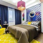 Стильная спальня в стиле поп-арт