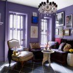 Фиолетовый в интерьере - фото