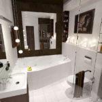 Коричневый в интерьере ванной комнаты