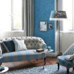 Стильный интерьер в голубых цветах
