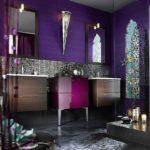 Ванная в фиолетовом цвете - фото
