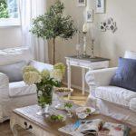 Оформление гостиной в стиле шебби шик - фото