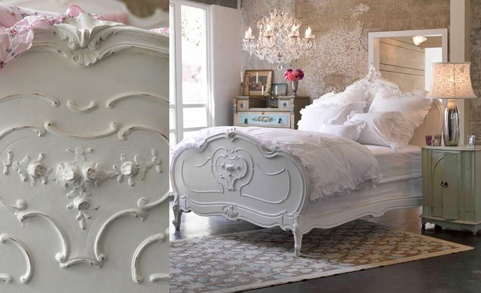 Шебби шик в интерьере спальни