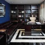 Цвет в интерьере домашнего кабинета - фото