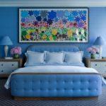 Спальня в голубом цвете - фото