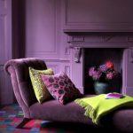 Фиолетовый интерьер - фото
