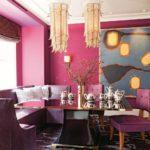 Розовый в интерьере столовой - фото