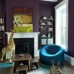 Гостиная в фиолетовом цвете - фото