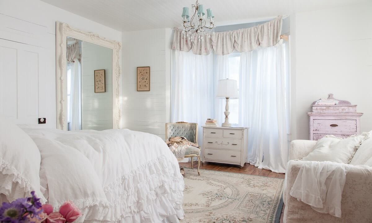 Текстиль для спальни в стиле шебби шик