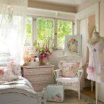 Оформление спальной комнаты в стиле шебби шик