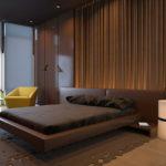Дизайн спальни в коричневом цвете