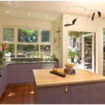 Сиреневый в интерьере кухни