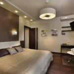 Потолочные люстры в интерьере спальни - фото