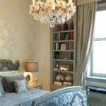 Потолочные люстры в интерьере спальни - фото 4