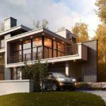 Загородный дом в стиле конструктивизм - фото